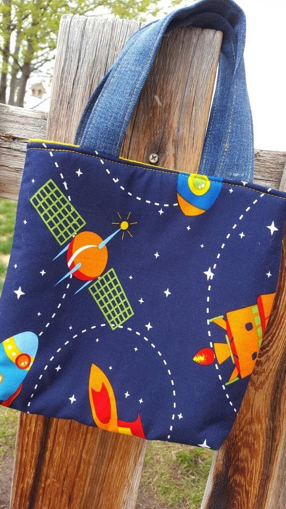 Rocket Ship Tote, Toddler Toy Bag
