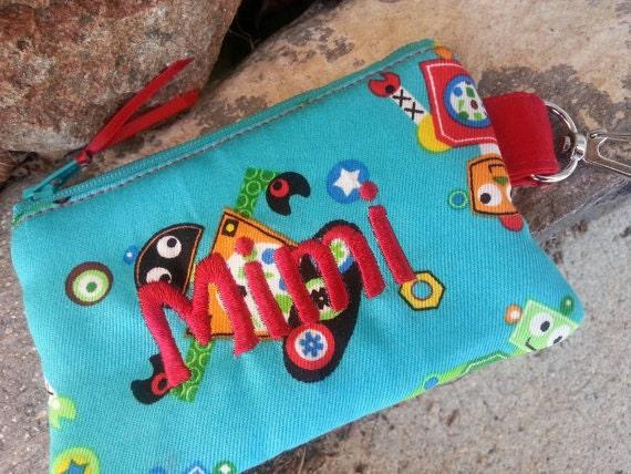 Personalized Boys zipper Wallet, Super Hero Coin Purse