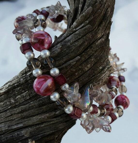 Purple  Coil Bracelet