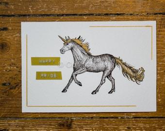 Happy Pride - Pride Unicorn Postcard