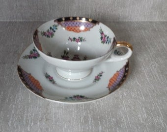 China Cup and Saucer Unmarked