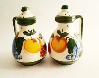 Vintage Relco Japan Fruits Salt And Pepper Shakers, 1960s Collectible Kitsch/Japan Made/Replacements/Gift Idea/Decorative