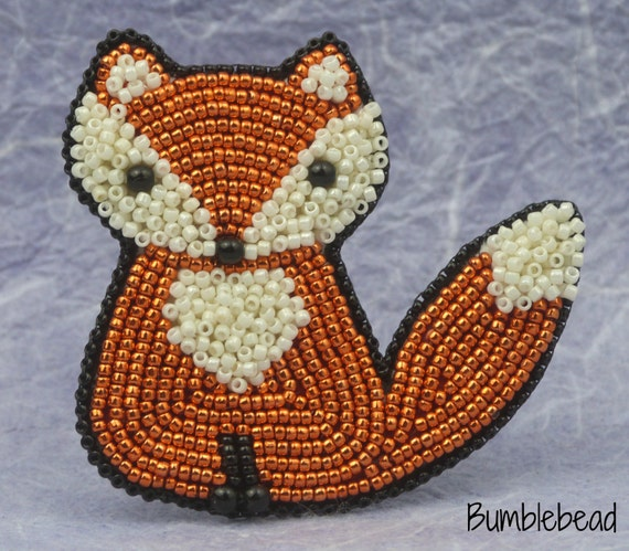 Little Sitting Fox: A Bead Embroidery Tutorial and Kit
