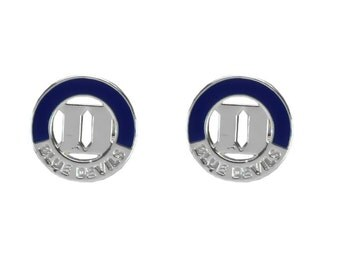 DUKE University Blue Devils 2 Tone Stud Earrings