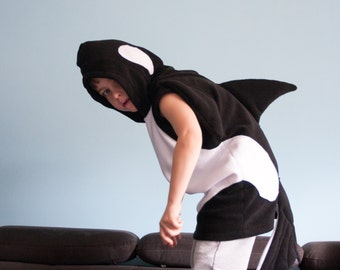 Killer Whale Costume, Halloween Costume, Party Costume, Halloween Costume for Boys or Girls, Toddler Costume, Black and White