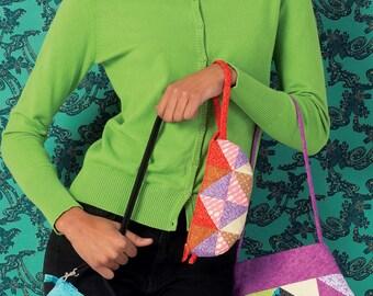Patchwork Purses Sewing Pattern, New Uncut, ellie mae designs K149, K0149
