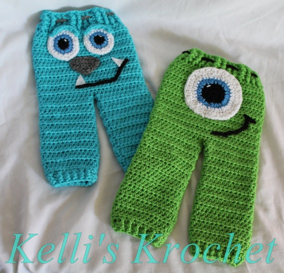 Crochet Pattern Baby Monster Pants : Crochet Monsters pants Baby Pants Kids Pants Baby Costume