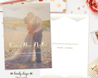 Save the Date Card engagement template for Photographers