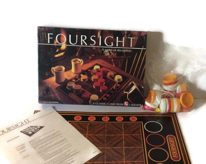 Clearance, make an offer, Foursight 1985, game of deception for 2 players, vintage game, Listing will no longer be available after Sept.