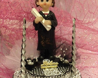 Graduation Girl Cake Topper or Centerpiece Gift Keepsake
