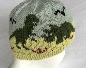 Dinosaurs Hat Knitting Pattern Original Design
