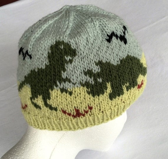 Dinosaurs Hat Knitting Pattern Original Design
