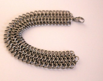 Stainless Steel European 4 in 1 Chainmaille Bracelet