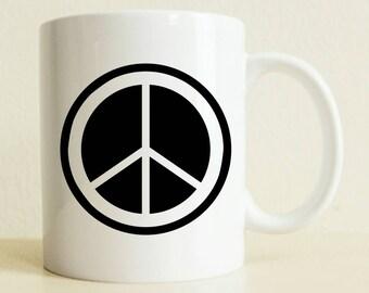 Peace Sign Gift Mug | Custom Boyfriend Gift | Gift For Her | Gift For Him | Good Vibes |  Positive Vibes
