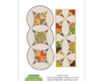 """Pattern """"Pie & Ice Cream"""" Table Runner by Anything But Boring (ABB1007) Paper Piecing Foundation Piecing"""
