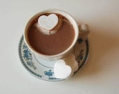 SHIPS NOW Romantic Cocoa and Mallows Gift Set- CitrusAtelier Gourmet Cocoa and Heart Marshmallows for Two