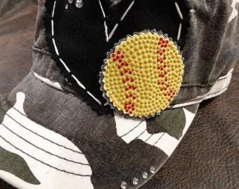 Softball LOVE Camo cadet Hat