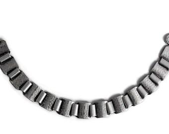Bracelet Antique Art Deco hammered 835 Silver