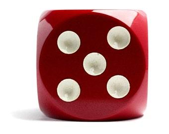 Bakelite Dice Cherry Amber Antique Cube Art Deco
