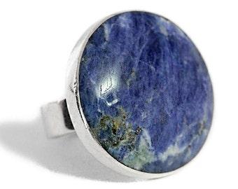 Silver Sodalite Ring