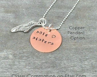 READY TO SHIP! Sole Sisters Running Necklace or Keychain - Half Marathon 5K 10K Running Jewelry