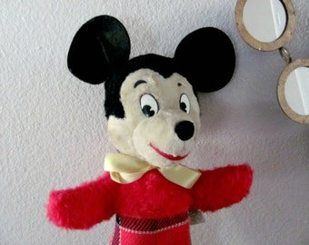 Vintage Mickey Mouse, 1960's Gund Mickey Mouse Plush, Stuffed Animal, Walt Disney Character, Vintage Disney Collectible, Stuffed Mickey