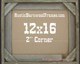 12x16 2 corner rustic barn wood aged weathered reclaimed primitive photo picture frame 12 x 16 unfinished repurposed barnwood frames