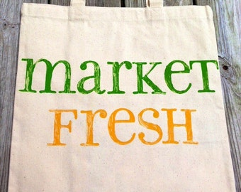 Canvas Tote - Market Fresh