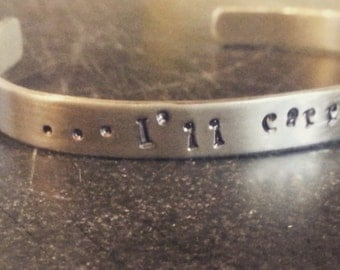 foot steps bangle, I'll carry you jewelry,  Christian jewelry