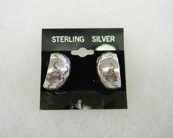 Sterling Silver 925 Hoop Post Earring @7008