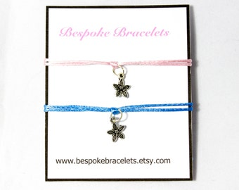 Bracelet set | Charm bracelet | Friendship bracelet | Bracelet Gift | Best friend bracelet | Layering bracelet | Flower bracelet