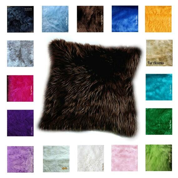 Fur Throw Pillow Covers : Premium Faux Fur / Shagy Shag Throw Pillow Covers / Sofa Bed