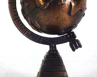 Vintage Die-Cast Miniature World Globe Pencil Sharpener - Office School Supplies