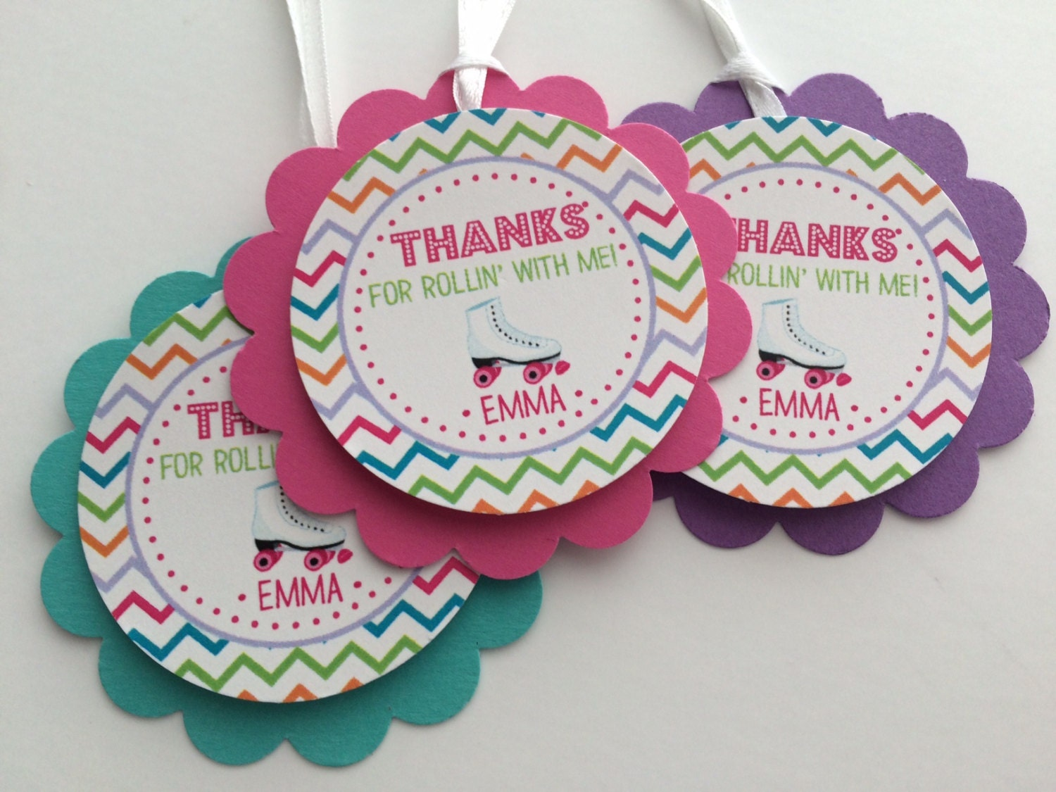 Roller skating party favors - Favor Tags 12 Girls Birthday Party Favor Tags Skating Roller Skating Girls Birthday Party Decorations Girl Party Favors