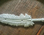 Feathers, Shabby. Feather hook. Coat hanger. Any color. Distressed. You pick color.