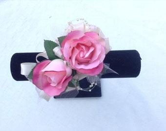 Corsage designe in pink roses