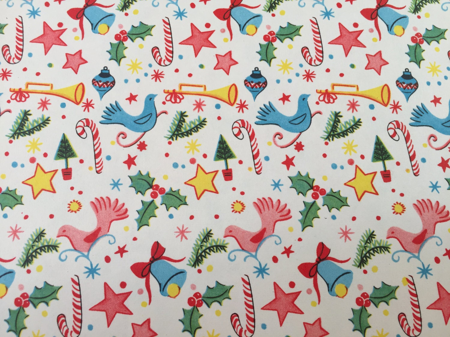 vintage christmas wrapping paper mini christmas ornaments
