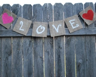 Valentine Banner/Bunting - Love - Home/Holiday Decoration