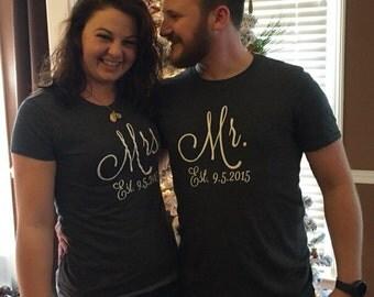 Mr & Mrs T-shirt Set
