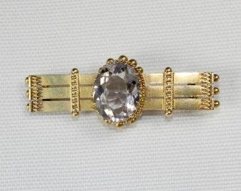 9ct Victorian Amethyst Brooch