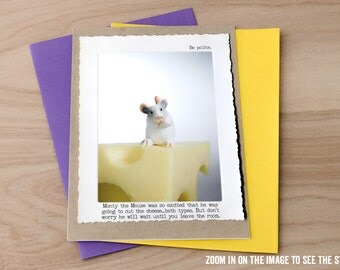 Funny Fart Joke Card • Mouse Greeting Card • Blank Inside Card •Humor Gifts • Miniature Animal Card • Animal Tales Card • Gift for Him