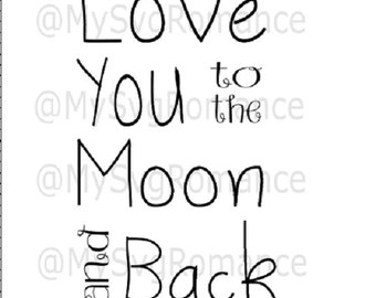 Love You To The Moon and Back SVG, Cut File, SVG, Cricut