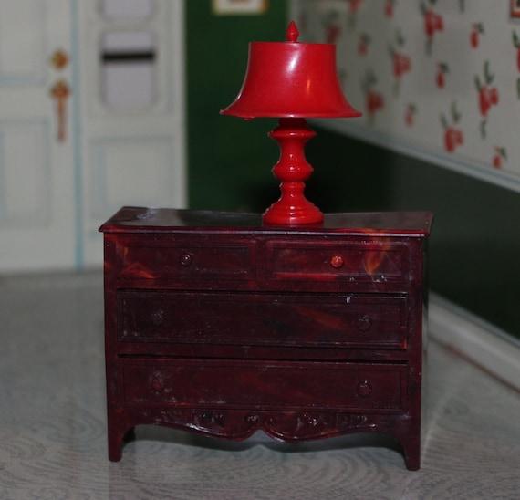 Jaydon Dresser And Lamp Set Plastic Dollhouse Furniture Tin