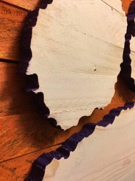 Clemson Tiger Paw 3 D Wood Sign Hand Made National