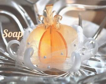 Fairytale Pumpkin Carriage Soap Favor - Cinderella Inspired Wedding Favor - Decorative Soap - Bridal Shower Favors - 3 inch
