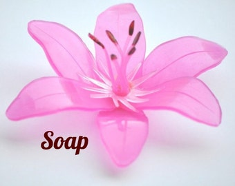 Wedding Favor For Guests, Tiger Lily Guest Soap - Soap Baby Shower Favor, Bridal Shower Favor, Baby Shower Gift, Wedding Shower Favor