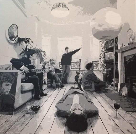 "Oasis Definitely Maybe Custom Pop Art Painting 30""x30"" Canvas"