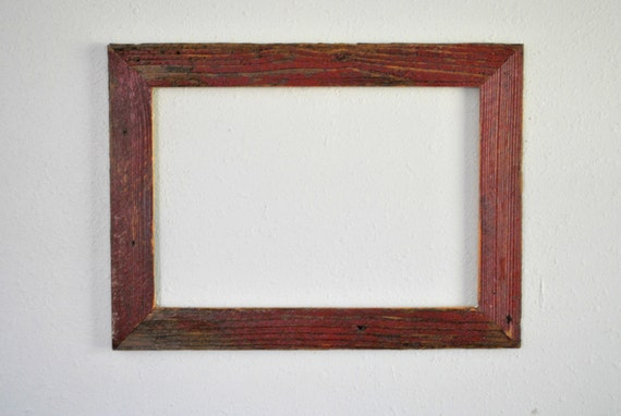 13 x 19 reclaimed red farm fence picket frame weathered and rustic one of a kind from. Black Bedroom Furniture Sets. Home Design Ideas