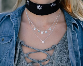 Quinn - Silver & Gold Fine Necklace