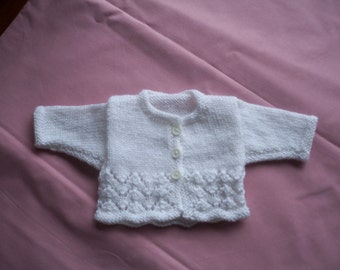 Hand Knitted Prem Baby Jacket